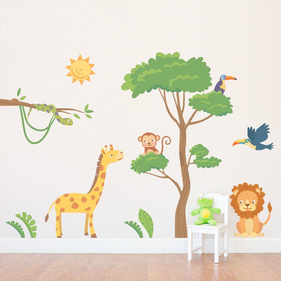 49720d277ad2 Jungle Safari Printed Wall Decal  wallums