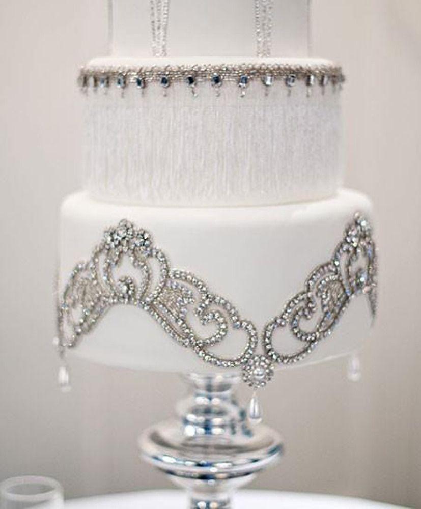 Jules Cake Appliqués | Crystals, Cake and Wedding