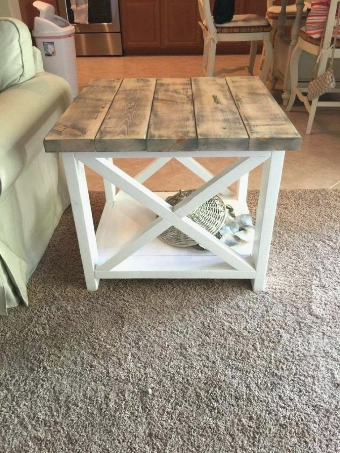 Rustic End Tables With Storage Diy Brilliant Table Plans Warm