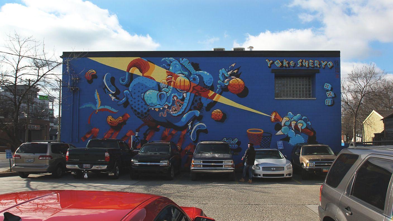 On The Grid Oneness Lexington Ky Lexington Ky Street Mural Street Art Mural Art
