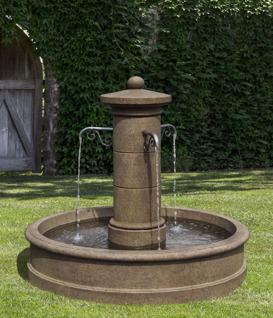 Avignon Fountain Basehor Outdoors Stone Fountains