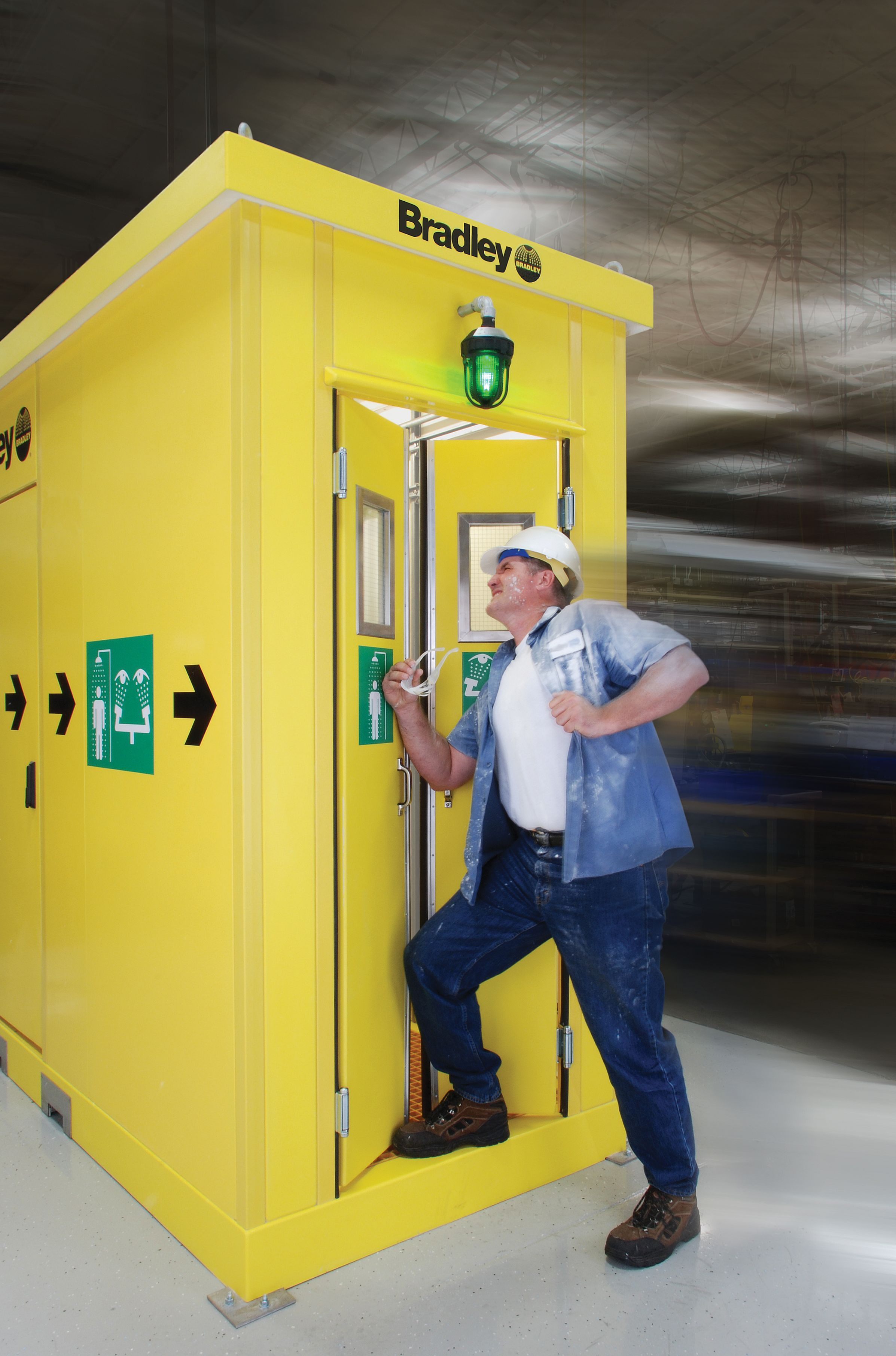 The Enclosed Safety Shower makes conducting ANSI-required testing ...