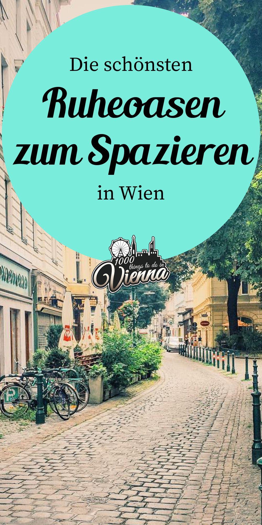Ruheoasen zum Spazieren in Wien