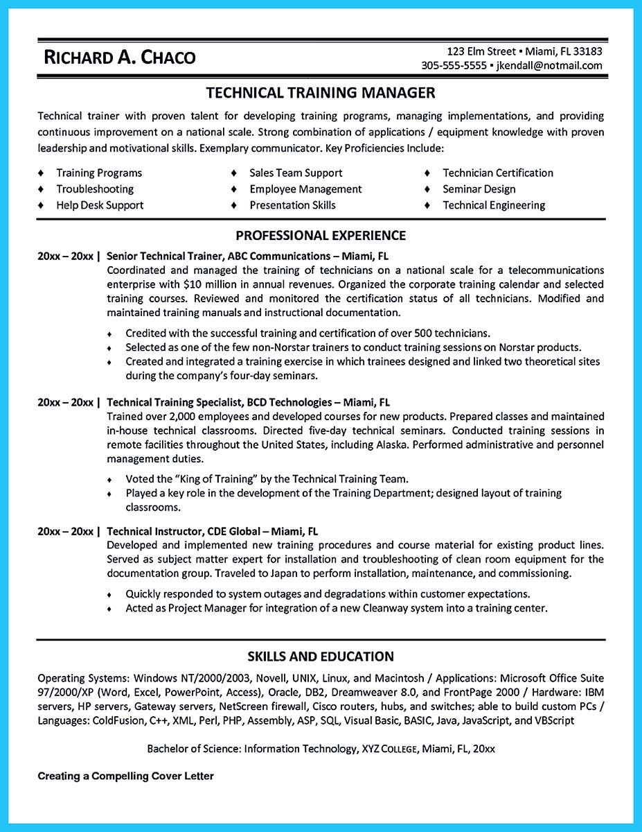 Awesome Brilliant Corporate Trainer Resume Samples To Get Job Check