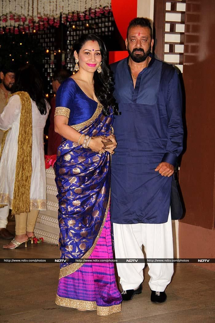 Wife And Husband In Saree