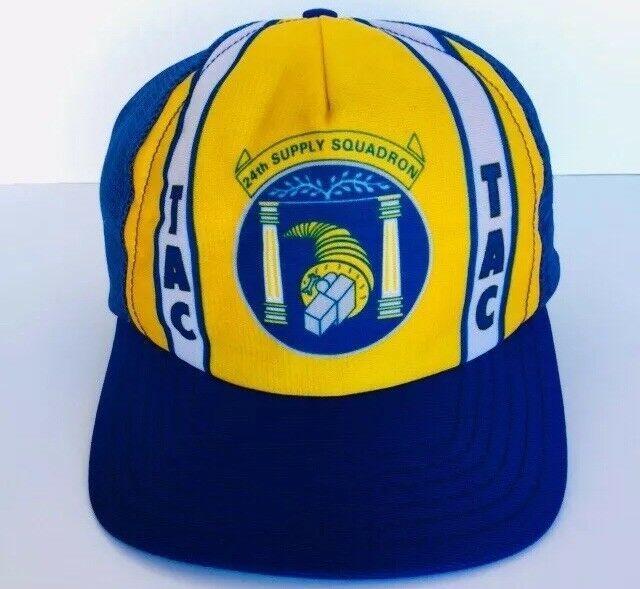 dd184201f6a9bd USAF Air Force 24th Supply Squadron TAC Snapback Cap Trucker Hat Blue Mesh  #Pointers #TruckerHat