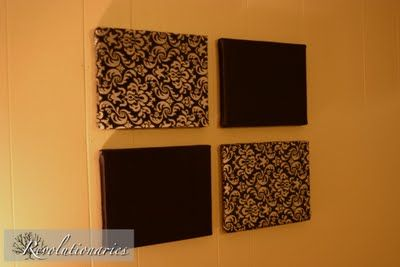 cheap wall art using canvas and fabric