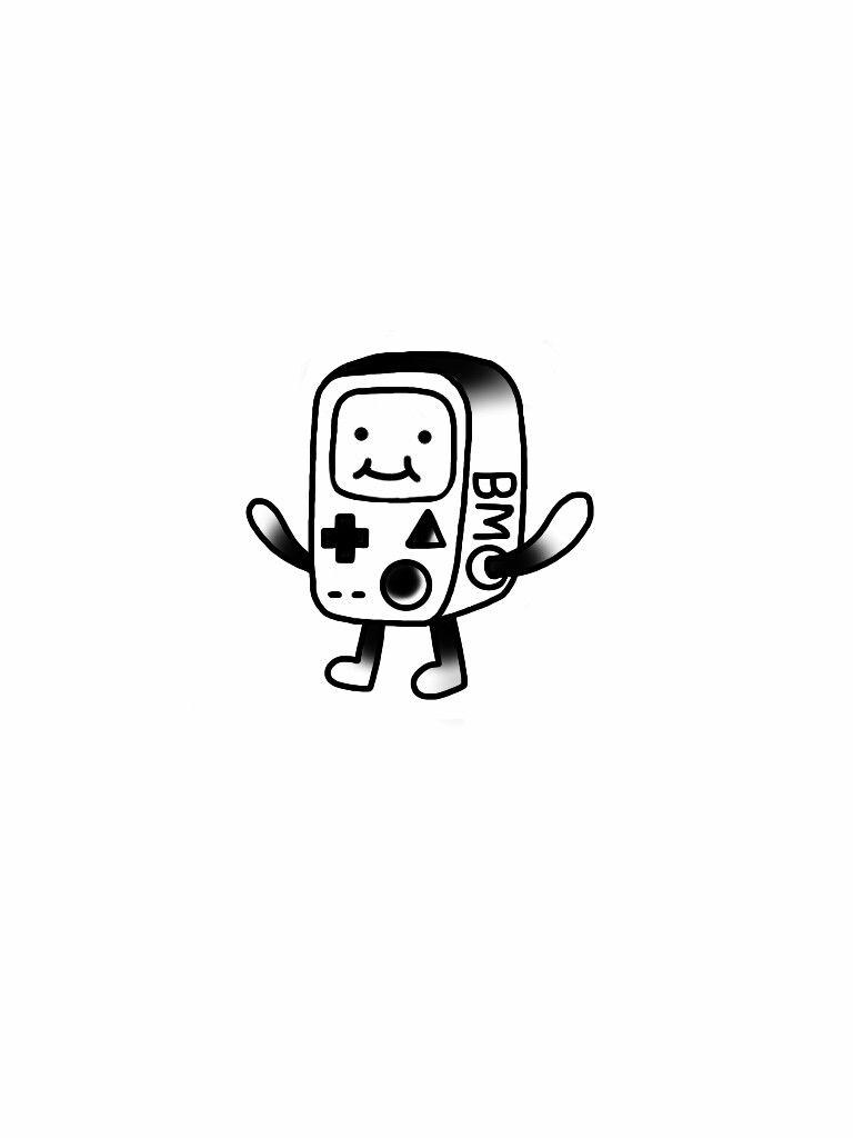 Bmo Adventure Time Tattoo Design Minimal Cute Flash