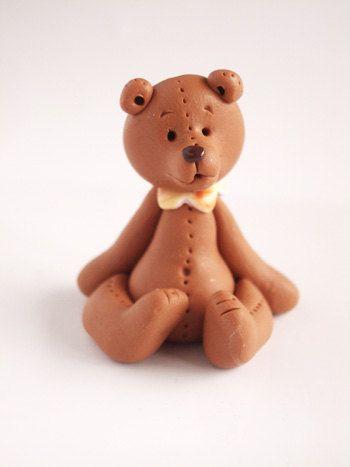 Polymer clay miniatur bear handmade by Nathalie s bears | Lo que me ...