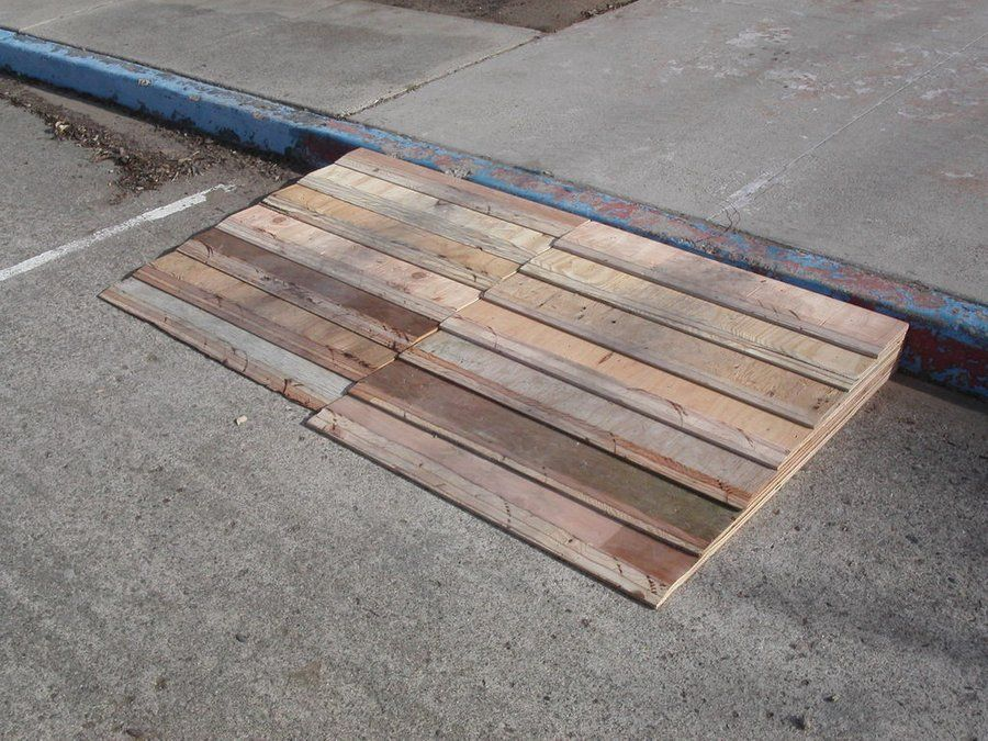 Forklift Loading Dock and Curb Ramp Curb ramp, Wooden