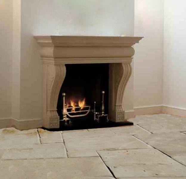 Awesome chimenea de piedra modelo toscanastone chimney - Chimeneas de piedra ...