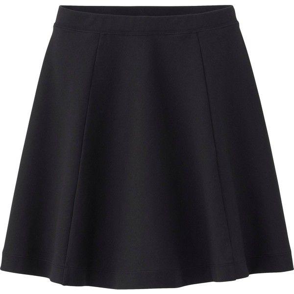 2c858d2585c UNIQLO Women Ponte Flare Skirt found on Polyvore
