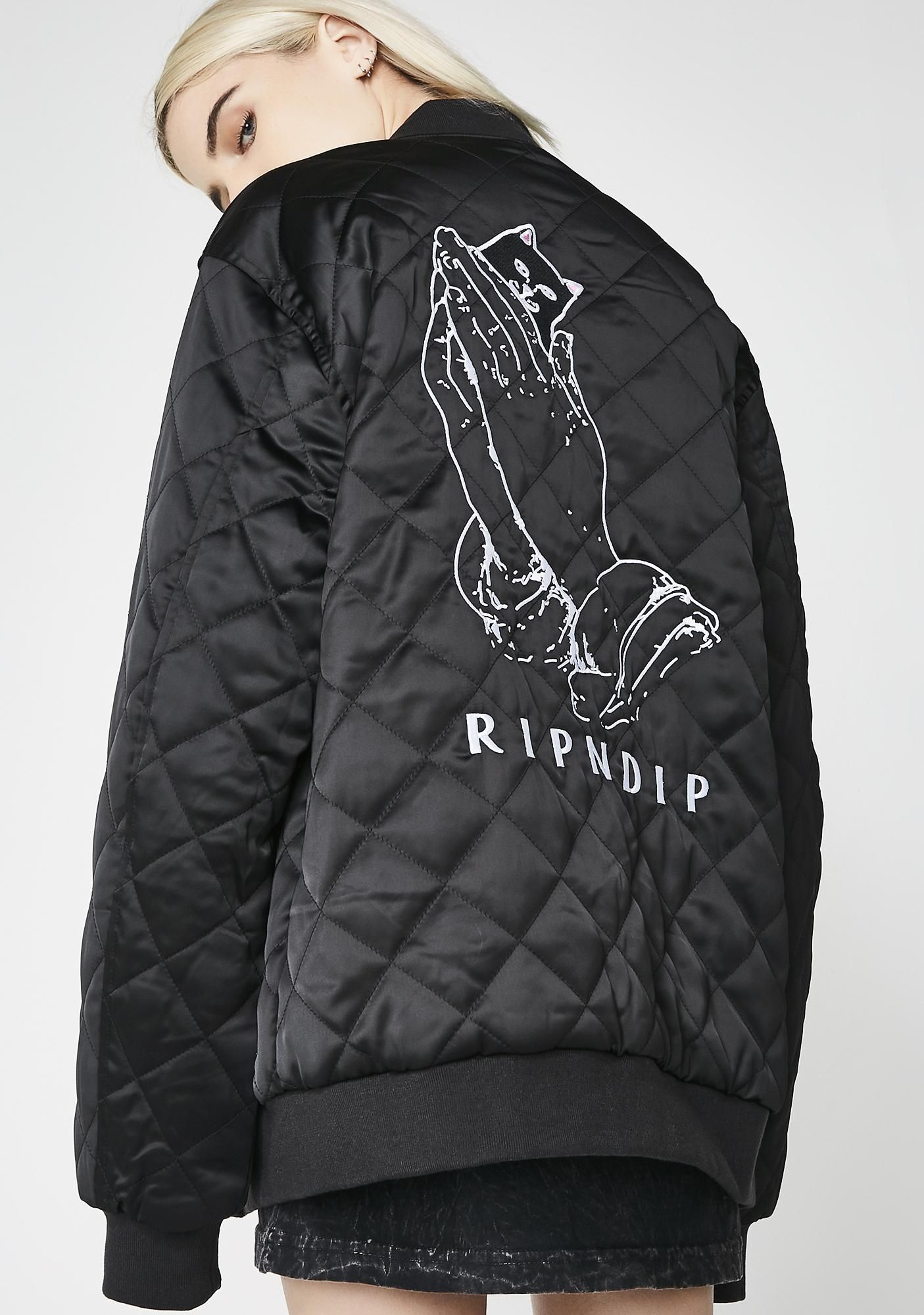 9d1f5e87e Praying For Nermal Quilted Reversible Jacket | Plimsol Punk ...