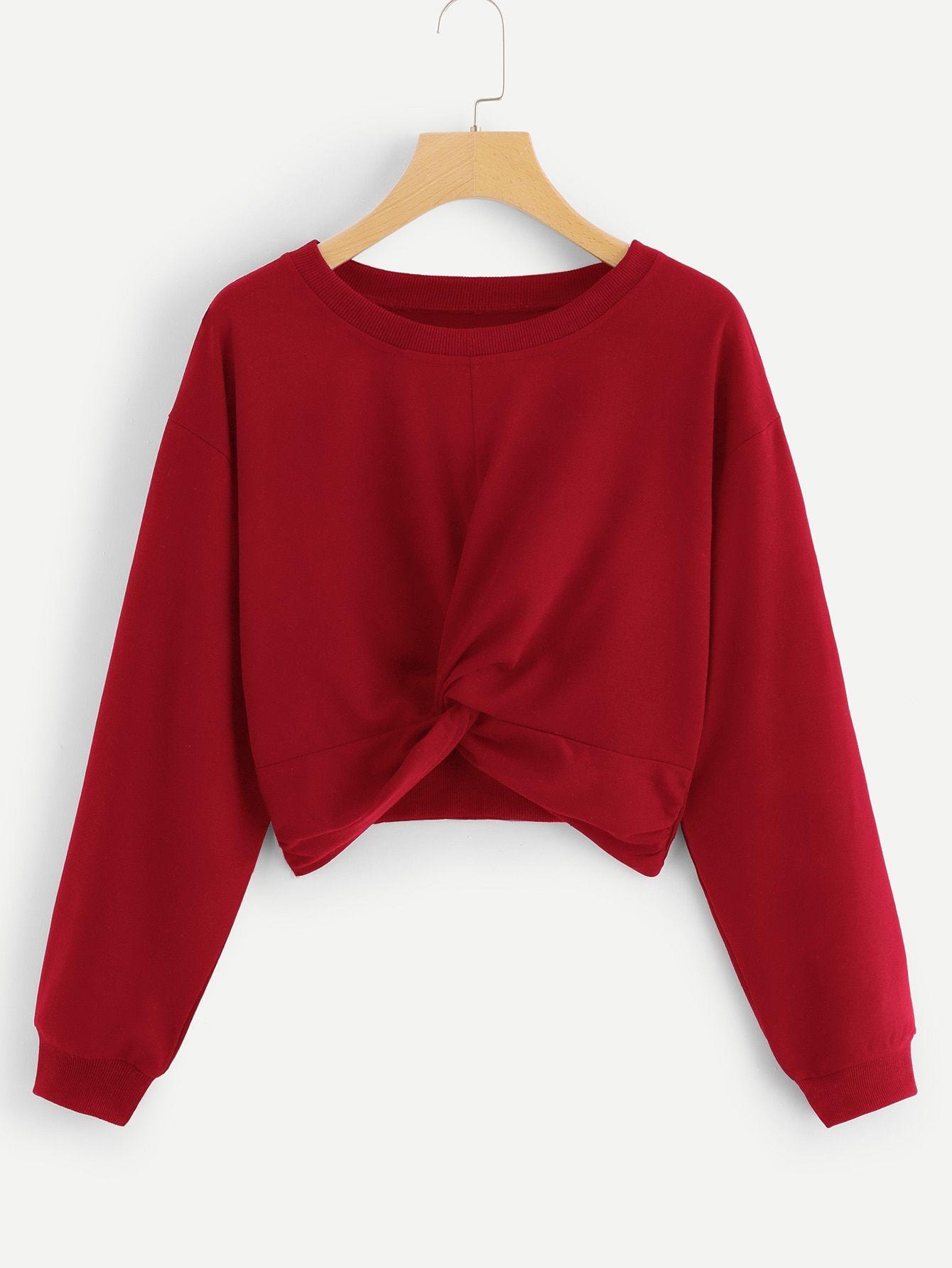 47+ Twist solid crop sweatshirt trends
