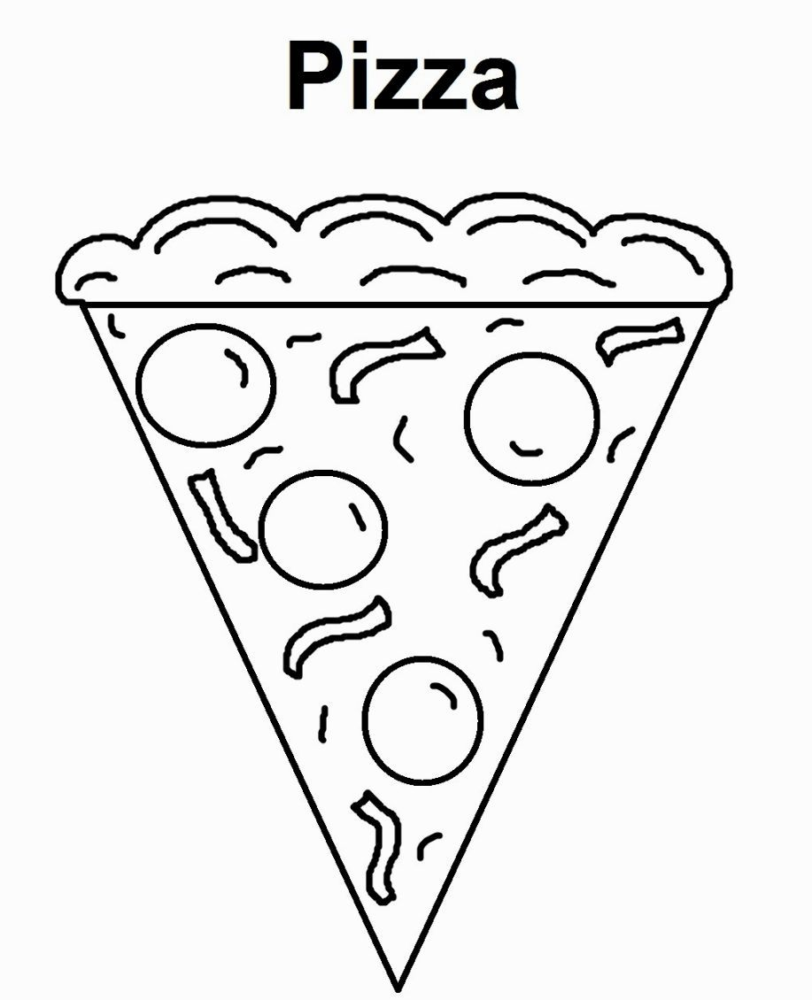 Pizza Coloring Sheet | Coloring Pages | Pinterest
