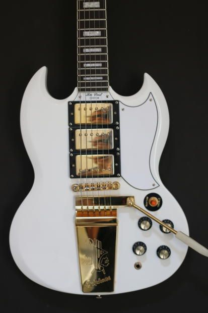 White epiphone sg limited edition custom shop | reverb.