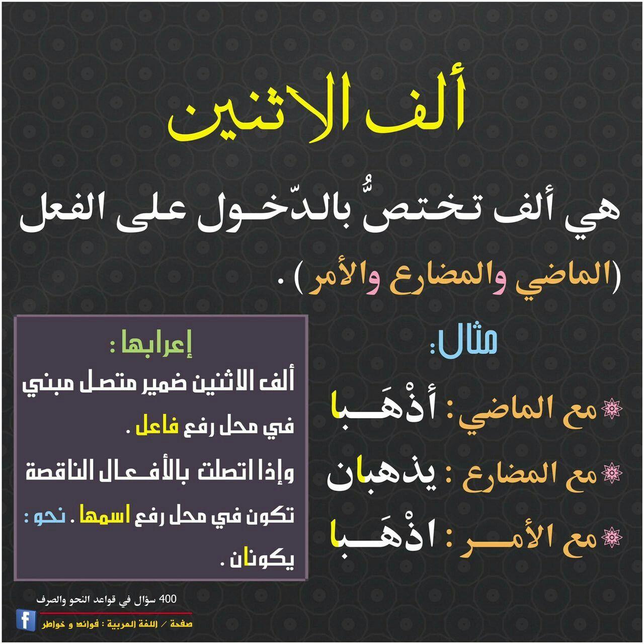 ألف الاثنين Learn Arabic Language Learning Arabic Language
