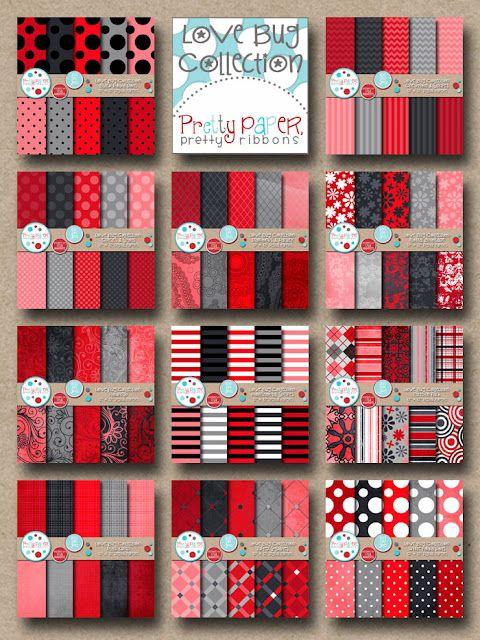 Pretty Paper, Pretty Ribbons: Love Bug Digi Paper Collection  www.prettypapergraphics.com