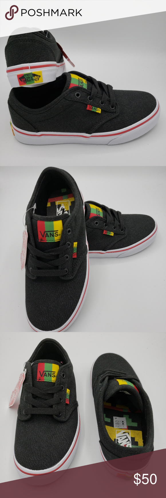 Vans Atwood Rasta Skate Shoes Youth   Skate shoes, Vans, Shoes