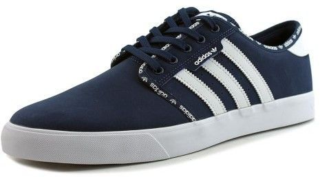 info for ae55f 20209 adidas Mens Seeley Mystery Blue  Ftw White Ankle-High Skateboarding Shoe  - 11.5M