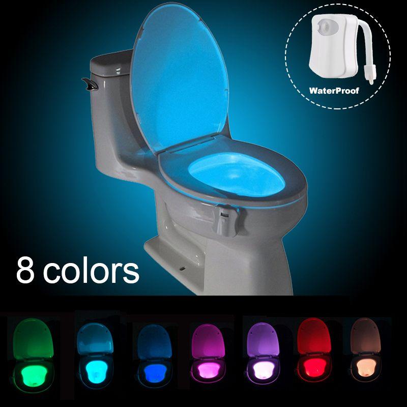 Led Toilet Nightlight Motion Sensor Activated Light Battery Operated Lamp Toilet Seat Led Lamp Bowl Bat Bathroom Night Light Motion Activated Light Toilet Seat