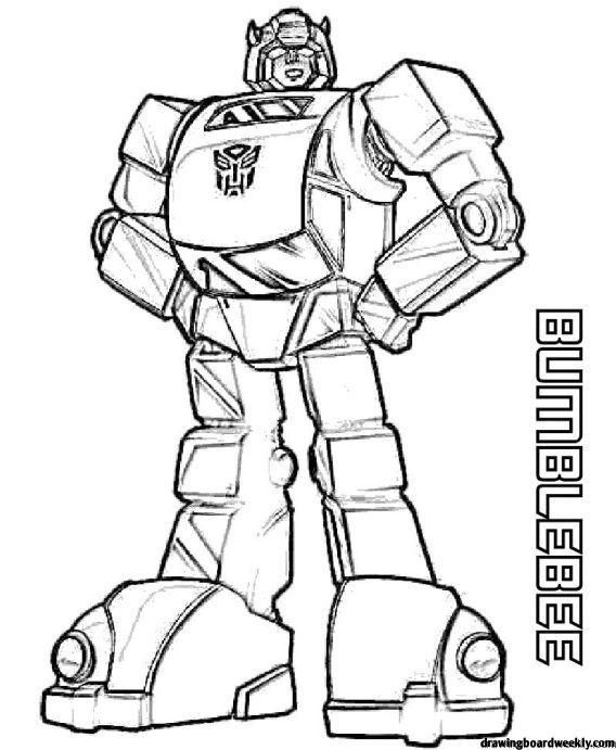 Bumblebee Transformer Car Coloring Pages Bumblebee Is One Of The Fictional Robot Characters In The Transformers Series He Is One Of The Most Popular Robot Fig