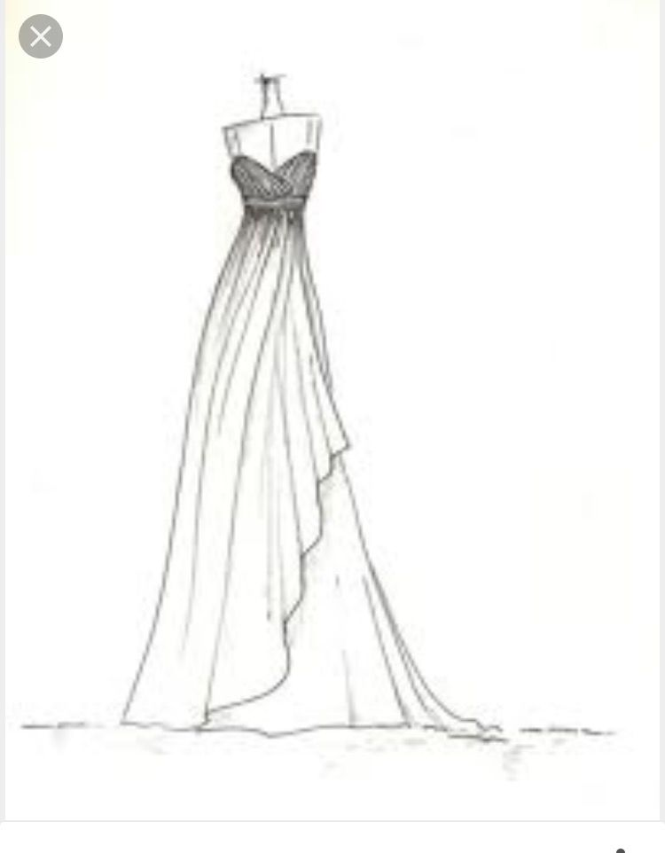 feee35efd15 Clothing Sketches, Dress Design Sketches, Wedding Dress Sketches, Fashion  Design Sketches, Sketch