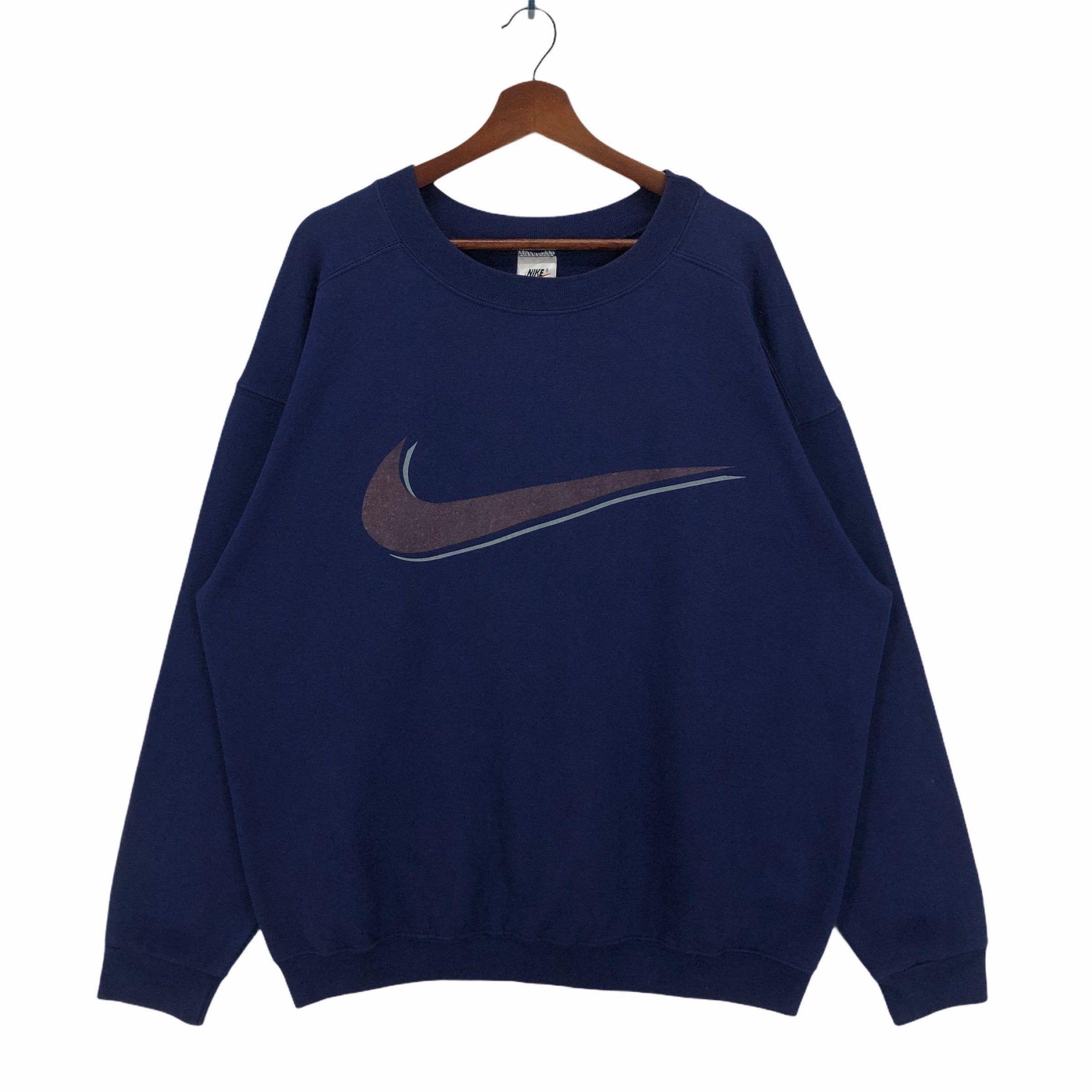 Vintage Navy Nike Sweatshirt Crewneck Nike Swoosh Big Logo Etsy In 2021 Vintage Sweatshirt Vintage Nike Sweatshirt Sweatshirts [ 2400 x 2400 Pixel ]