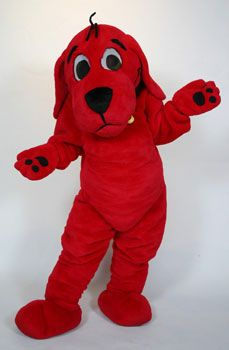 clifford the big red dog custom mascot costume character mascot rental available for promotional use
