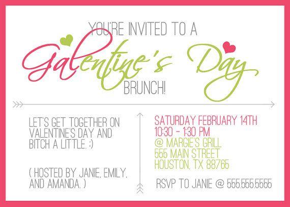 Galentines Day Invitation 5x7 Pdf Printable Etsy Galentines Valentines Day Party Invitations