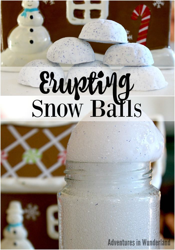 Erupting Snowballs - Winter Science Activity