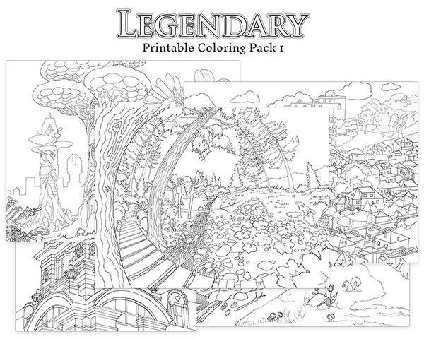 Introducing Our First DOWNLOAD Coloring Pack5 Stunning Hand Drawn Images To Print And