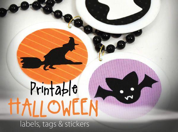 bien des façons aussi d\u0027utiliser ces motifs ronds  cupcake toppers - free halloween decorations printable
