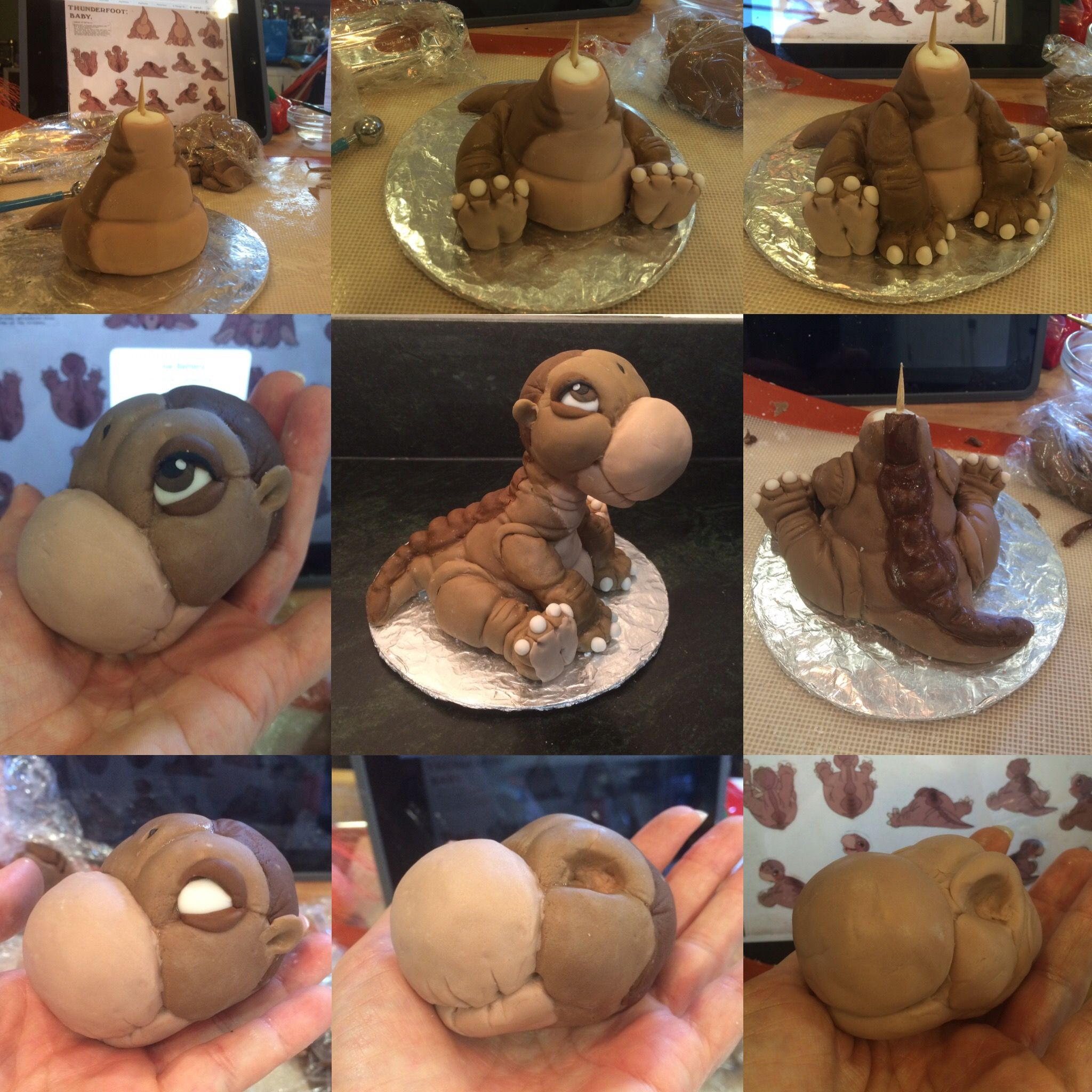 little foot fondant cake topper land before time birthday party