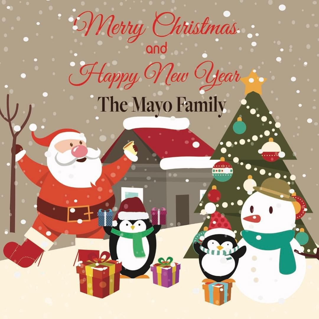Christmas Card Personalised With Your Own Family Name On Front And Your Own Christmas Card Images Christmas Cards Free Download Personalised Christmas Cards