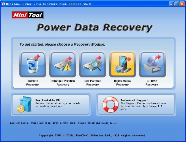 Data Recovery Software Minitool Power Data Recovery Data