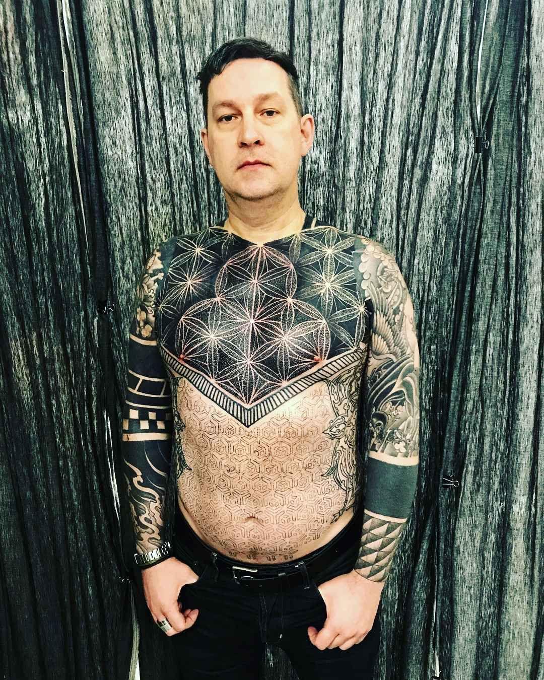 Matt blacks ornamental tattoos girl spine tattoos body