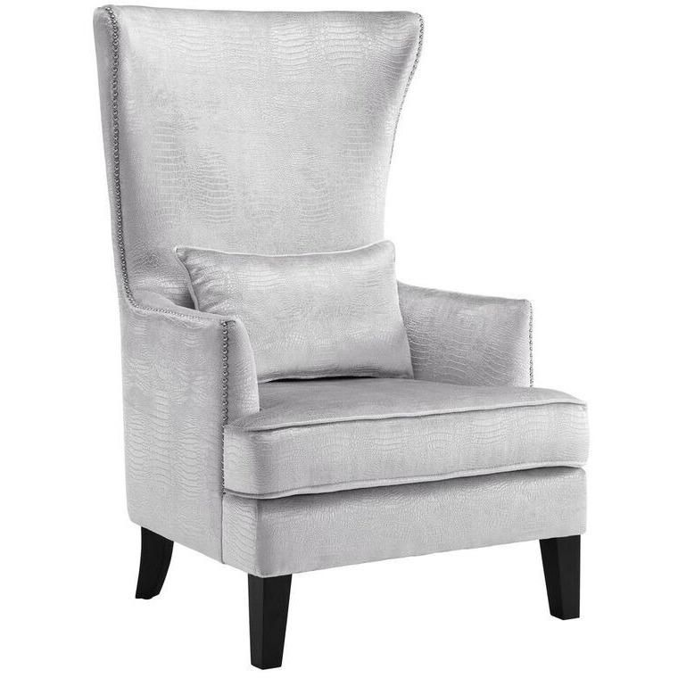 Crystal high back accent chair high back accent chairs