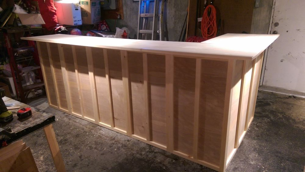 Custom Solid Wood Home Bar 120x24x42 Ready To Stain Handmade House In The Woods Portable House Bars For Home