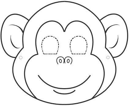 Pin by apo66 on Eğitim Animal face mask, Monkey mask, Animal mask