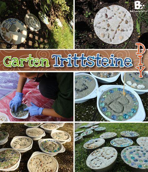 Individuelle Trittsteine für den Garten kann man ganz einfach selbst - trittplatten selber machen