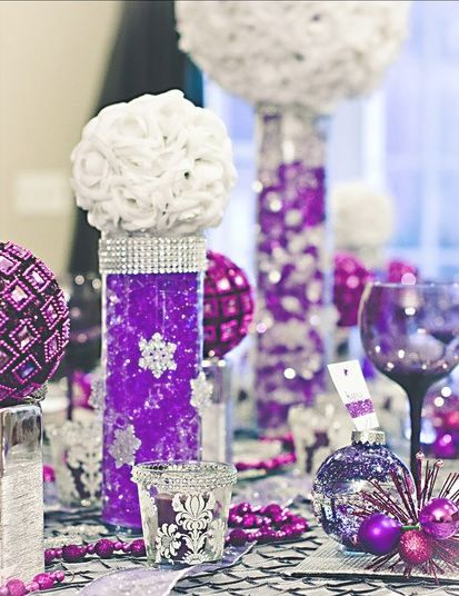 Lavender Rose Table Decorations wedding purple table decoration ...