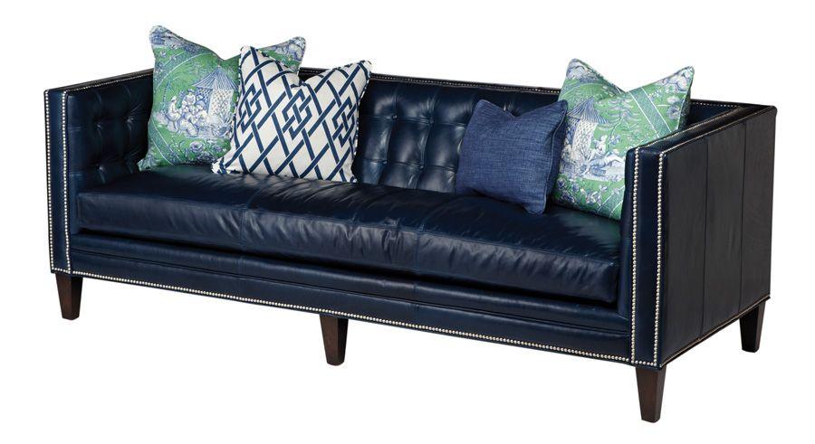Ikea Sofa Bed Sapphire blue leather sofa from Massoud