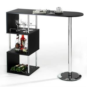 Table haute de bar VIGANDO mange debout comptoir e   Cuisine   Pinterest Table haute de bar 3 tablettes noir   Achat   Vente meuble bar Dimensions    120
