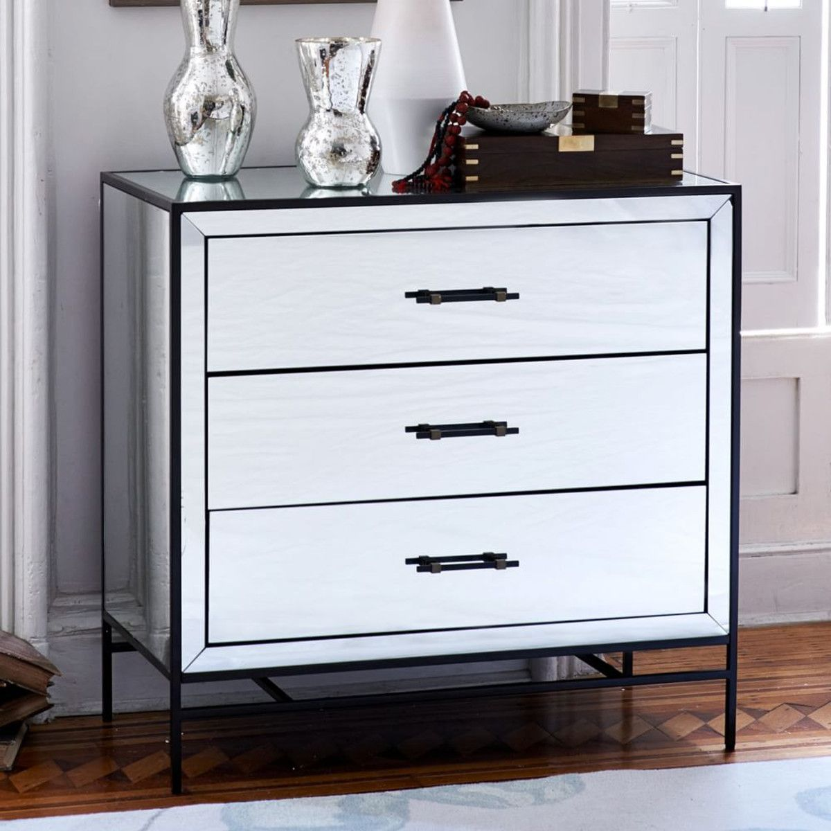 Mirrored 3 Drawer Dresser West Elm Australia