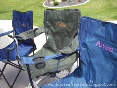The Creative Crate Personalize Your Camp Chairs Personalized