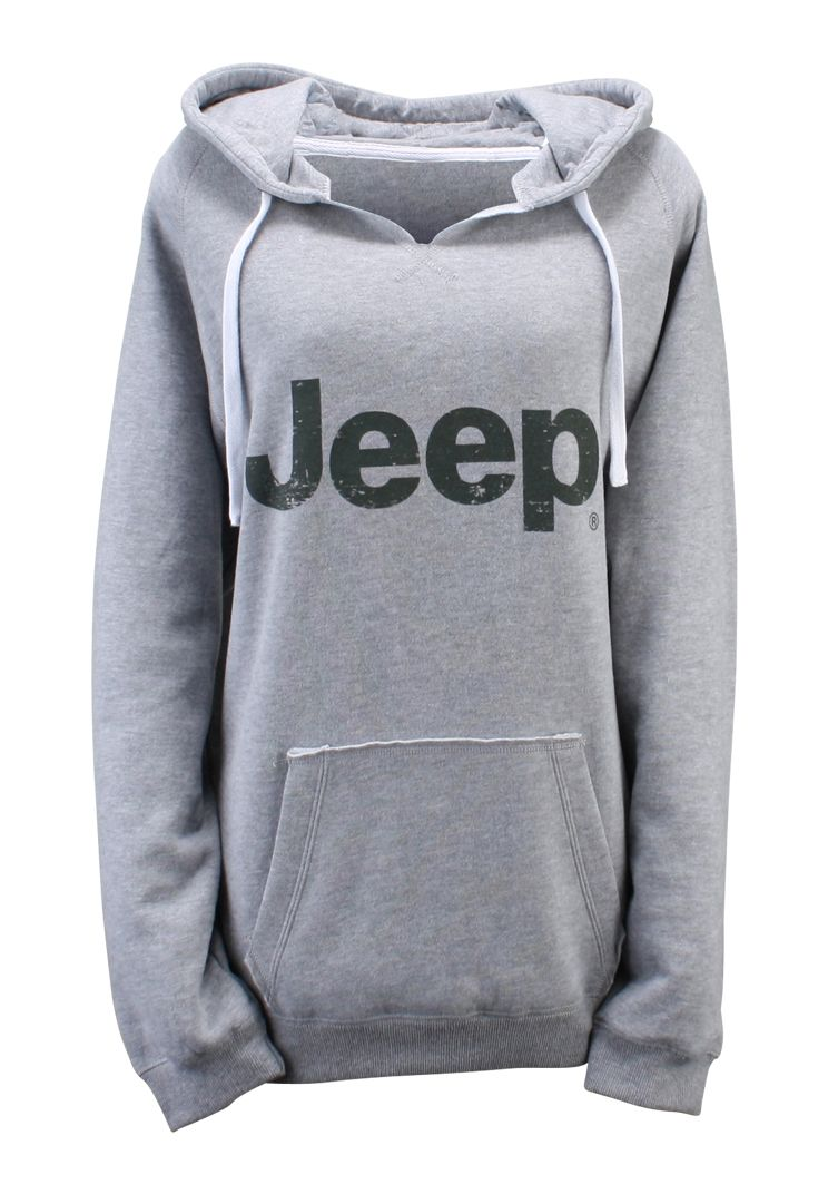 JEEP SPORT GREY HOODIE Hooded Pullover Sweatshirt Cherokee Road Off Wrangler