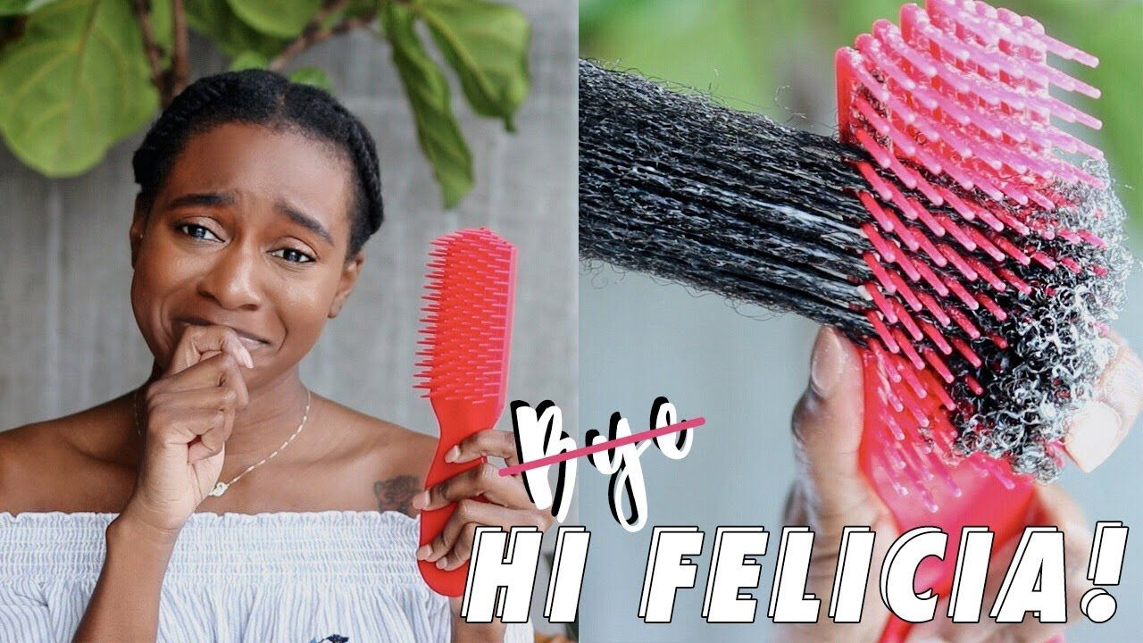 Best Detangling Brush I Ve Used On My 4b 4c Hair Felicia Leatherwood Best Detangling Brush Detangling Brush 4c Hairstyles