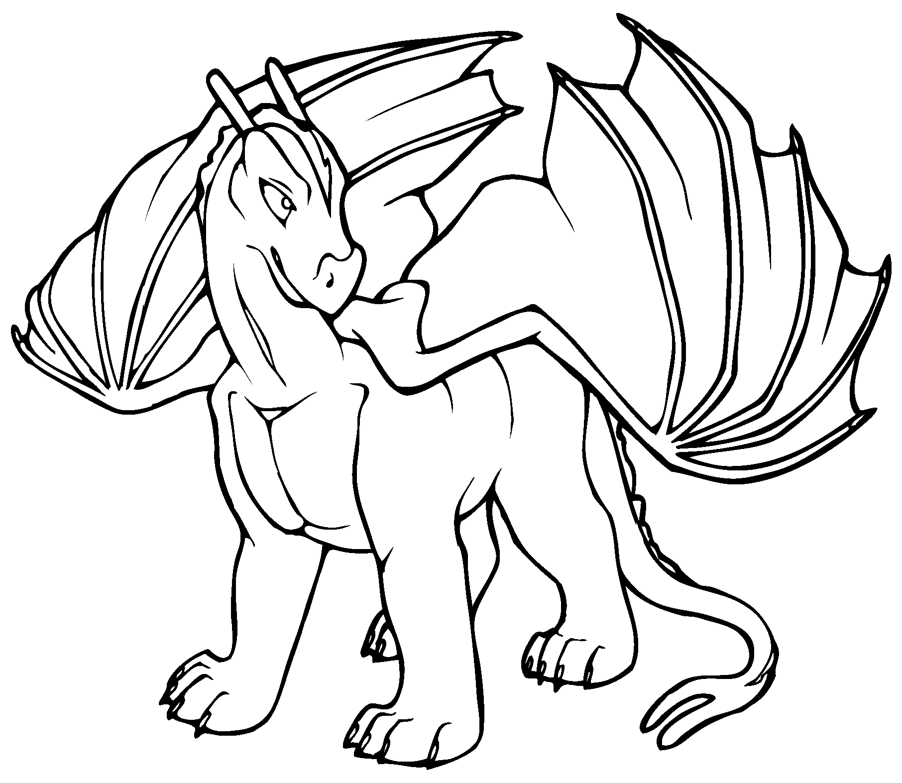 Free Printable Dragon Coloring Pages For Kids | Places to Visit ...