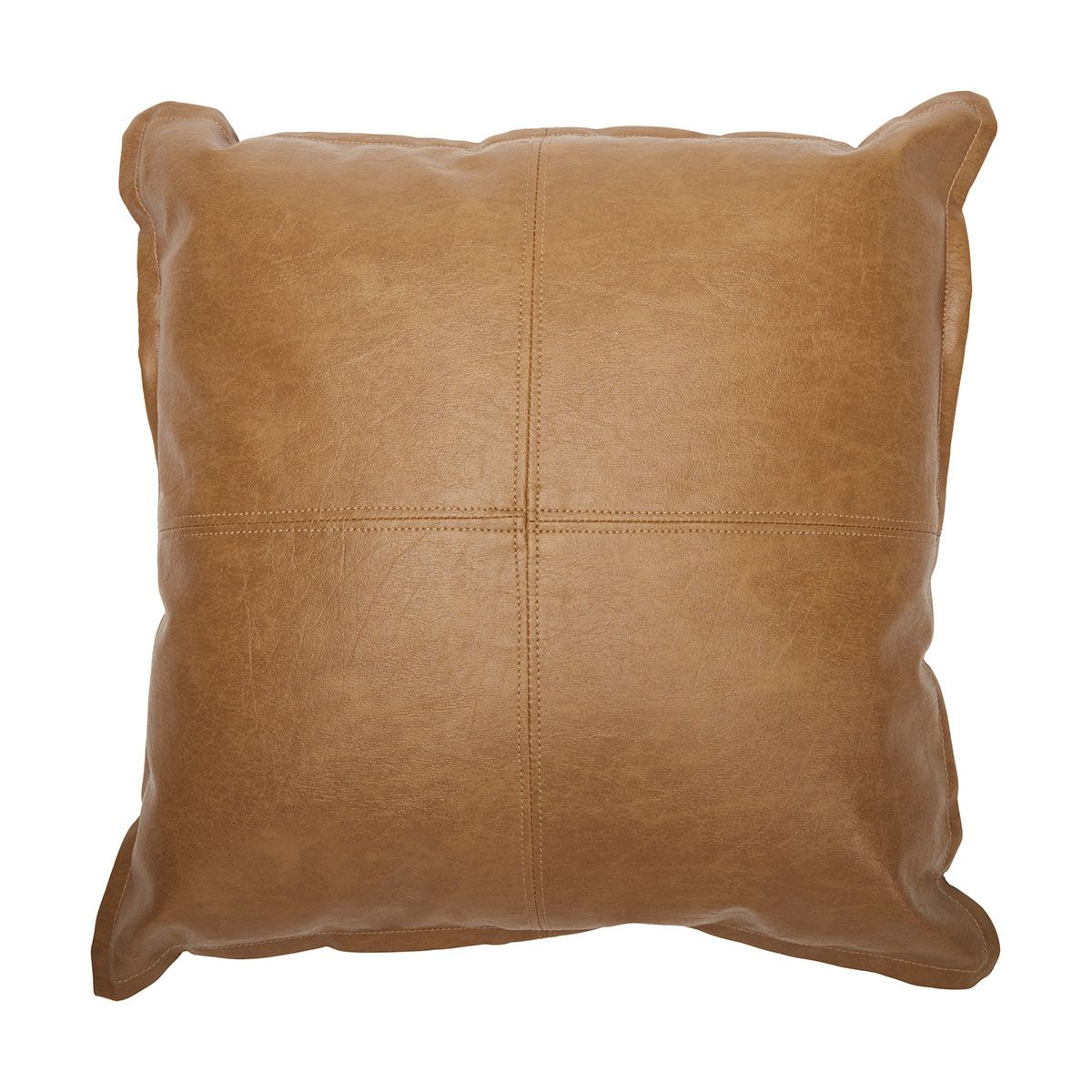 Harley Cushion Tan KmartNZ Tan leather cushion